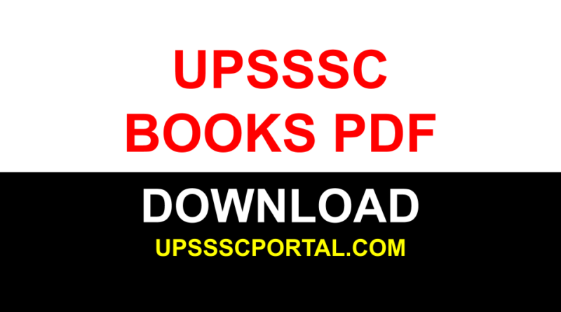 UPSSSC BOOKS PDF DOWNLOAD